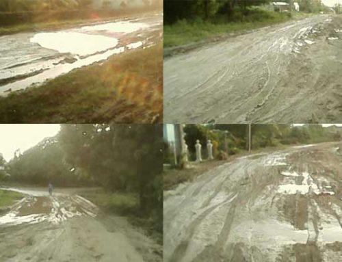 Deterioro de la carretera que une Velasco con La Gegira